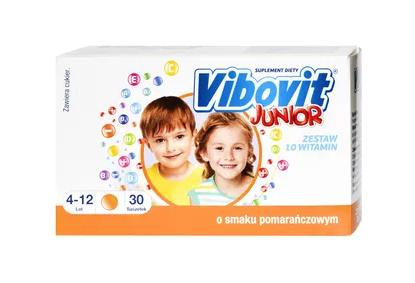 Picture of Vibovit Junior, 2 g, proszek, smak pomarańczowy, 30 saszetek
